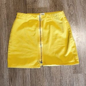 Urban Outfitters BDG Denim Yellow Mini Skirt